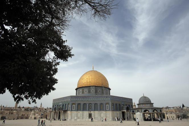 L'esplanade des Mosquées, aussi appelée « Sanctuaire noble»,dans la vieille ville de Jérusalem, en octobre 2015.