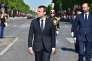 Emmanuel Macon et Edouard Philippe, le 14 juillet, avenue des Champs-Elysées.