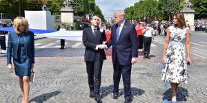 A Paris, le 14 juillet.
