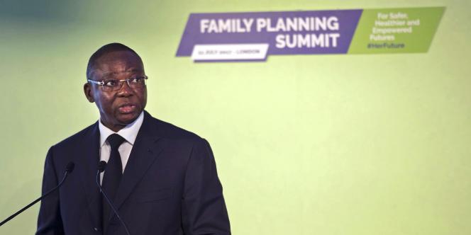 Nicolas Meda, ministre de la santé du Burkina Faso, lors du sommet Family Planning2020 à Londres le 11 juillet 2017.