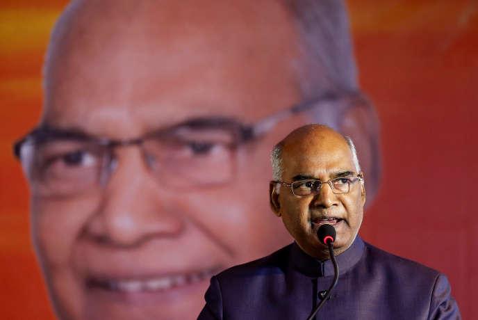 Ram Nath Kovind à Ahmedabad, le 15 juillet.