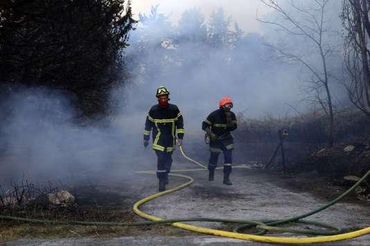 Incendie àSaint-Cannat, dans les Bouches-du-Rhône, le 15 juillet.