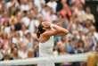 La joueuse espagnole Garbine Muguruza après sa victoire contre Venus Williams, à Wimbledon, près de Londres, le 15 juillet.