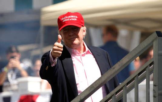 Donald Trump , dimanche 16 juillet dans le New Jersey. REUTERS/Kevin Lamarque
