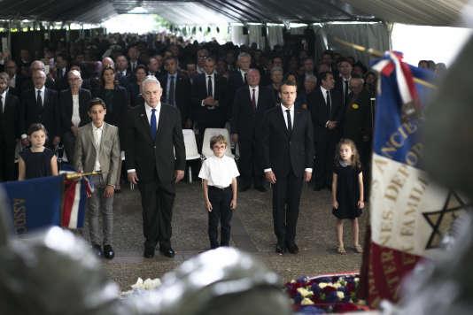 Le président français Emmanuel Macron s'est exprimé dimanche 16 juillet lors de la cérémonie marquant le 75e anniversaire de la rafle du Vel d'Hiv.