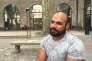 Mustafa, réfugié irakien, le 11 juillet à Avignon, au jardin Ceccano, où il participe au feuilleton théâtral du festival.