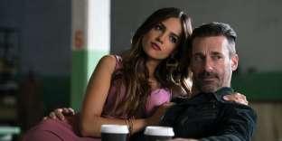 Eiza Gonzalez et Jon Hamm dans« Baby Driver»de Edgar Wright.