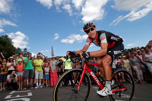 Amaël Moinard, lors de la 15e étape du Tour de France, le 16 juillet. Le coureur BMC a perdu son leader Richie Porte lors de la 9e étape après une chute. REUTERS/Benoit Tessier
