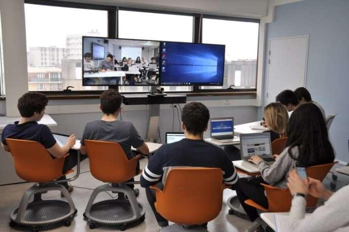 L'université Paris-I-Panthéon-Sorbonne a inauguré son «PMFLab » d'innovations pédagogiques le 9 mars.