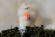 REFILE - CORRECTING TO FLAME RETARDANT A firefighting plane drops flame retardant to extinguish a forest fire in Castagniers near Nice, France July 17, 2017. REUTERS/Eric Gaillard