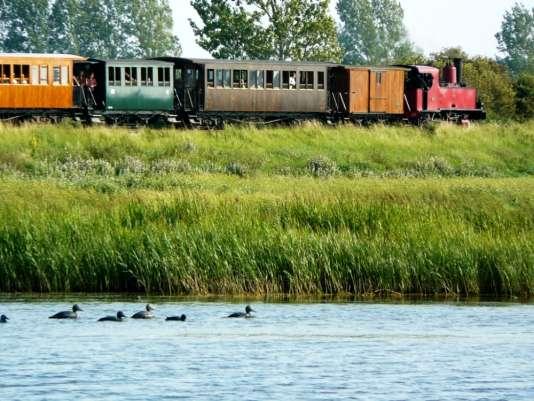 Le chemin de fer de la Baie de Somme parcourt 27 km entre terre et mer.