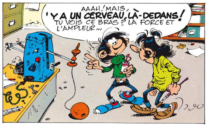 Vignette tirée de l'album de Franquin «Le Gang des gaffeurs» (Dupuis, 1974).