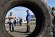Les ouvriers de l'usine de pièces automobiles GM&S Industry ont bloqué la fonderie de Sept-Fons, une filiale du groupe PSA, le 5 juillet 2017 à Dompierre-sur-Besbre (Allier).