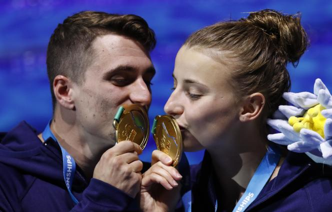 Toutes disciplines confondues, c'est le troisième titre mondial des Bleus dans ces Mondiaux2017 de natation.
