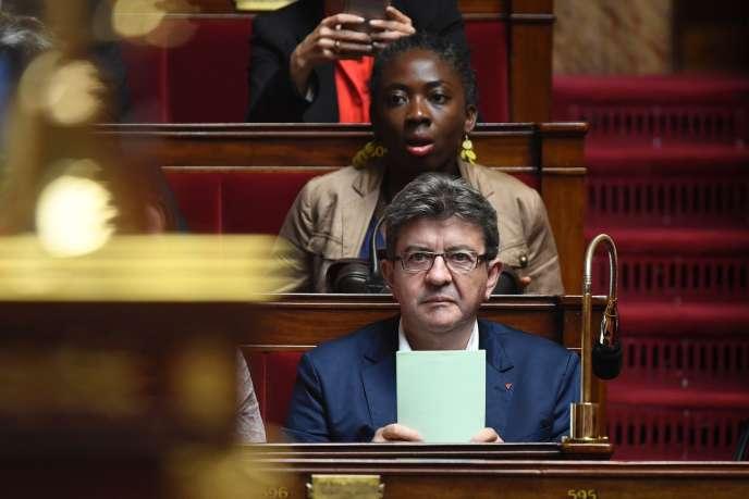 Jean-Luc Mélenchon à l'Assemblée nationale à Paris, le 10 juillet.