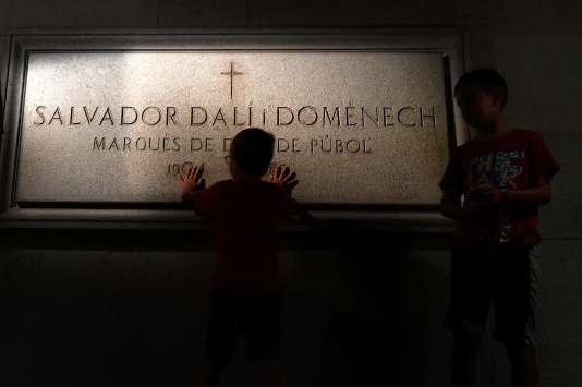 La tombe de Salvador Dali,au Théâtre-Musée Dali de Figueras, le 18 juillet.