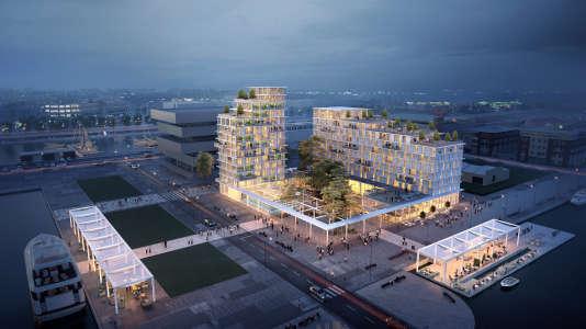Le groupe immobilier Pichet propose de transformer la presqu'île de Frissard, au Havre, en un véritable quartier intégré à la ville. On y trouvera une résidence étudiante, une résidence de tourisme, des logements, une ferme aquaponique, un restaurant, une épicerie fine et une médiathèque-librairie.