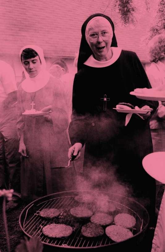 Dès les beaux jours, le barbecue est roi (ici enseptembre 1985).