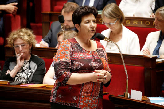 La ministre de l'enseignement supérieur, de la recherche et de l'innovation, Frédérique Vidal, à l'Assemblée nationale, le 19 juillet.