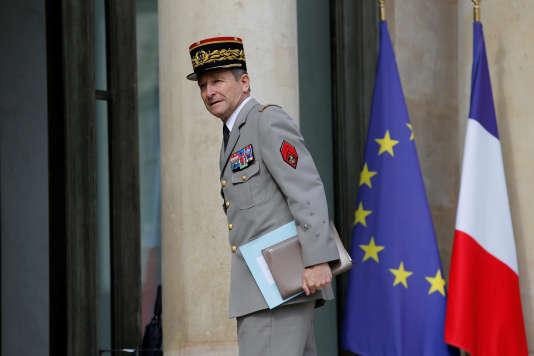 Le chef d'état-major Pierre de Villiers a présenté sa démission, le 19 juillet.