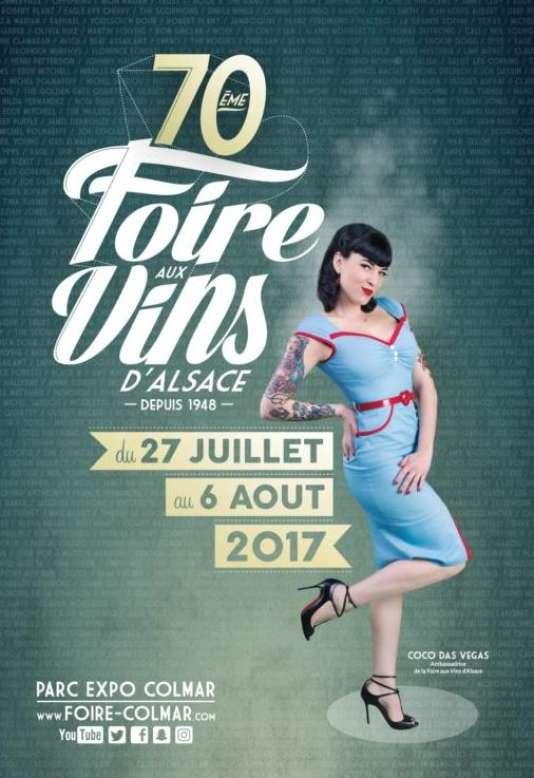 Affiche du festival de La Foire aux vins d'Alsace, à Colmar, du 27 juillet au 6 août.