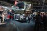 Lancement du Range T de Renault Trucks, en juin 2013, à Lyon. Volvo, la maison mère du groupe, est l'un des constructeurs sanctionnés.