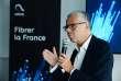 """Michel Combes, PDG de la maison mère Altice-SFR, lors de la conférence de presse """"Fibrer la France"""" le 19 juillet à Paris"""