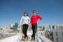 Eugenia Kuyda et Philip Dudchuk, cofondateurs de Replika, sur le toit de leur nouveau siège à San Francisco (Californie).