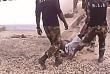 Capture d'écran d'une vidéo de soldats du Bataillon d'intervention rapide (BIR) maltraîtant un prisonnier (Amnesty International).