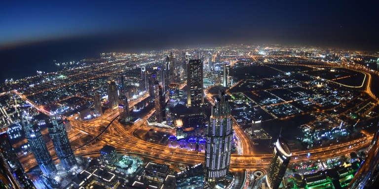 Vue de la« sky line» de Dubaï, aux Emirats arabes unis.