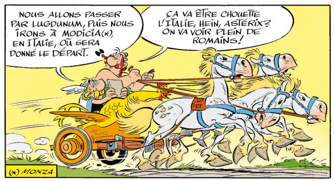 Extrait, en exclusivité, de l'album « Astérix et la Transitalique» de Jean-Yves Ferri et Didier Conrad.