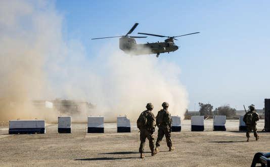 Des troupes américaines dans une base militaire temporaire à Oreij (Irak), le 22 février.