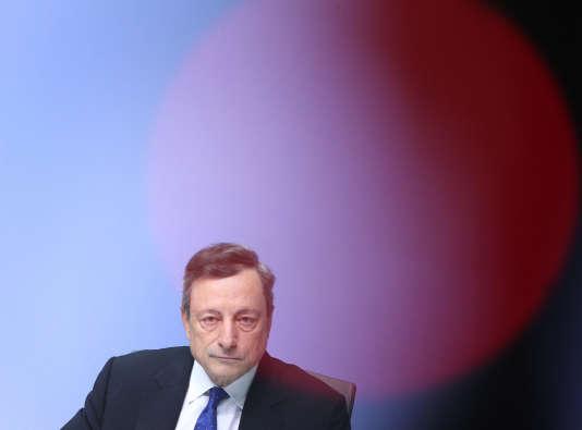 Mario Draghi, président de la BCE, à Francfort (Allemagne), le 20 juillet.