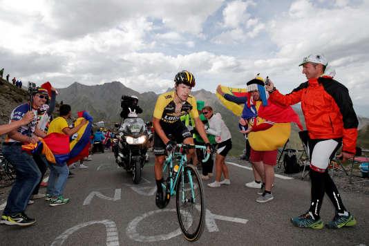 Primoz Roglic s'est imposé lors de la 17e étape du Tour, le 19juillet. BENOIT TESSIER/REUTERS