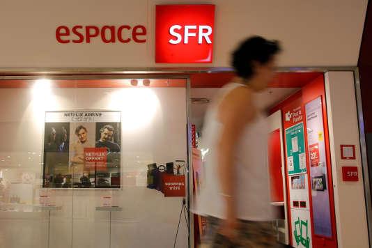 Une boutique SFR à Saint-Sébastien-sur-Loire (Loire-Atlantique).