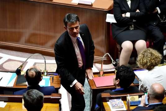 Manuel Valls, député de l'Essonne apparenté au groupe LRM, à l'Assemblée nationale (Paris), le 4 juillet.