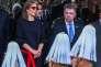 Le président colombien et Prix Nobel de la paix 2016, Juan Manuel Santos, et la première dame, Clemencia Rodriguez, assistent aux festivités célébrant le 207e anniversaire de l'indépendance de la Colombie, à Bogogta, le 20 juillet 2017.