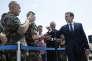Emmanuel Macron, en visite sur la base aérienne d'Istres (Bouches-du-Rhône), le 20 juillet.