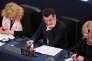 Le vice-président du Front National Florian Philippot au Parlement européen à Strasbourg (Bas-Rhin), le 5 juillet.