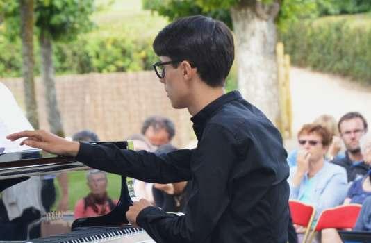 Le pianiste italien Ricardo Bisatti, 17 ans.