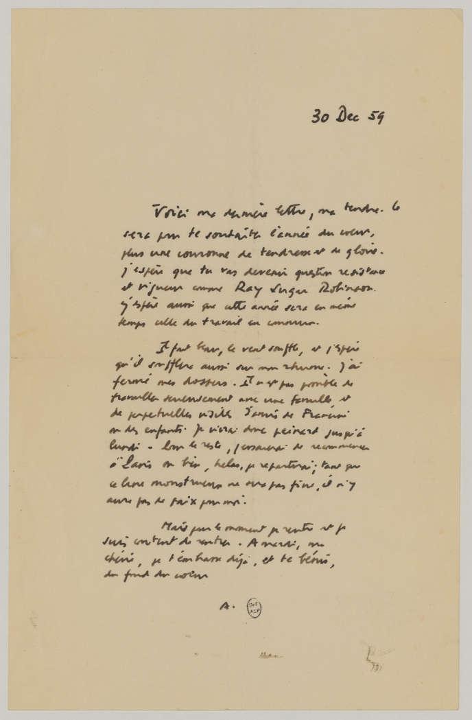 La Dernière Lettre D Amour D Albert Camus
