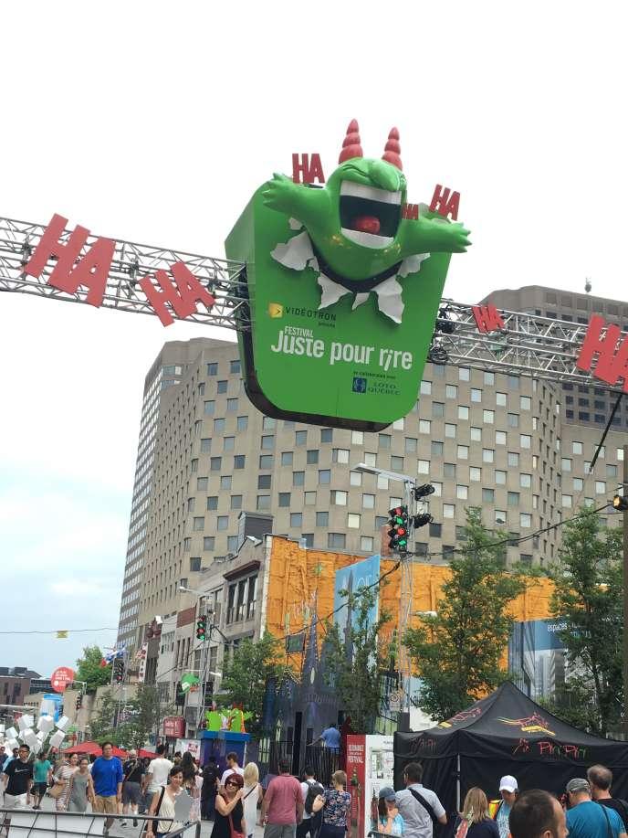 Au festival Juste pour rire, dans le quartier des spectacles, à Montréal.