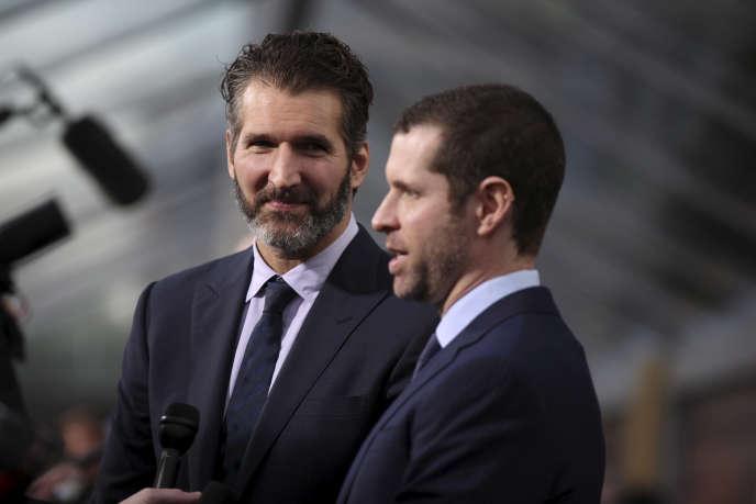 David Benioff et D.B. Weiss, les créateurs de« Game of Thrones», ont pour projet la série« Confederate» – ici le 23 mars 2015.