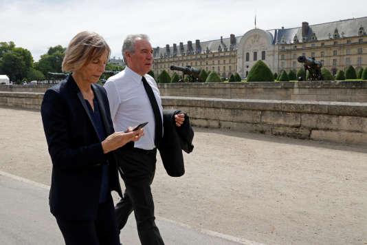 François Bayrou et Marielle de Sarnez aux Invalides, à Paris le 5 juillet.