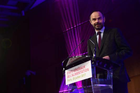 Edouard Philippe, le premier ministre, a ouvert les débats des Etats généraux de l'alimentation le 20 juillet.
