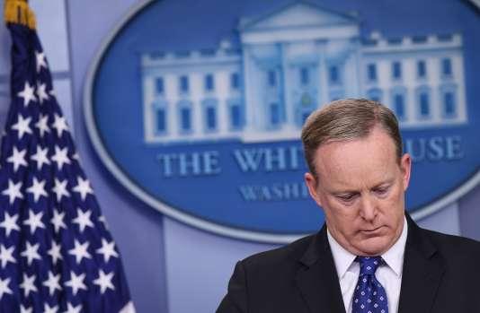 Sean Spicer, le 9 mai à Washington.