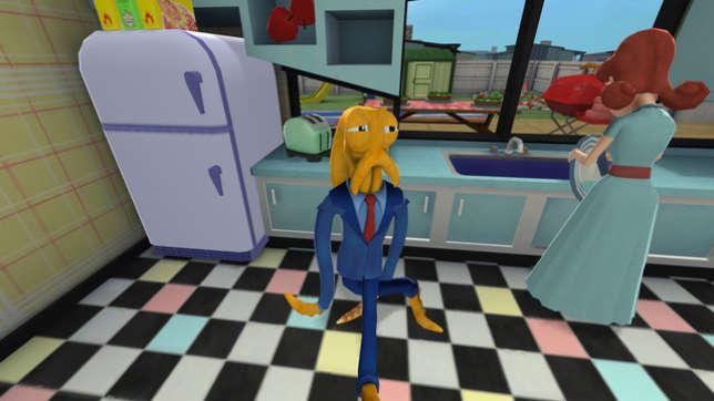 Le jeu indépendant «Octodad» raconte les péripéties d'une pieuvre devant vivre une vie d'humain.