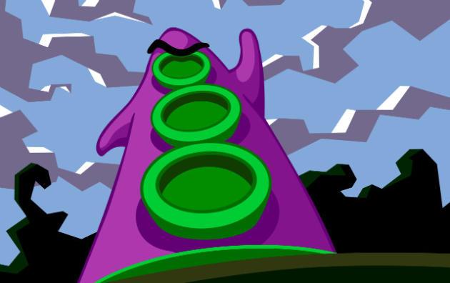 Dans«Days of the Tentacles», Pourpre, un personnage génétiquement modifié, traduit la fascination populaire pour l'intelligence supérieure, et possiblement malfaisante, des poulpes.