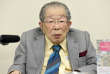 Le docteur Shigeaki Hinohara, au cours d'une conférence de presse à Tokyo, le 25septembre2015.