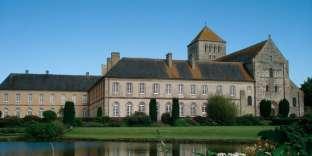 L'abbaye Sainte-Trinité de Lessay (Manche).